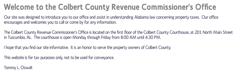 Colbert County, AL County Clerk | Name Search